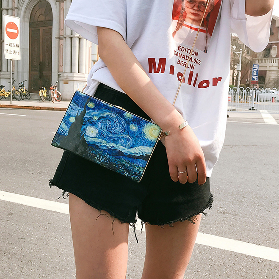 Crossbody Bags For Women Vintage Starry Style Box Ladies Messenger Shoulder Bag Party Clutch MiniCrossbody Bags For Women Vintage Starry Style Box Ladies Messenger Shoulder Bag Party Clutch Mini