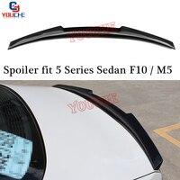 M5 Carbon Fiber Rear Spoiler for BMW 5 Series F10 Sedan F10 M5 520i 525i 530i 535i MP / M5 / M4 / AC Style 2010   2016 Turnk Lip|Spoilers & Wings|   -