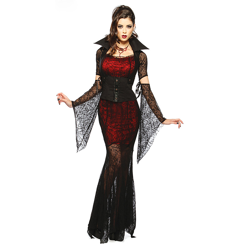 Sexy Gothic Dress Costume Halloween Costume Hot Witch -7256