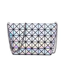 2016 platz frauen handtasche geometrische heiße art paket ling kette schräg einzelner schulterbeutel handtasche