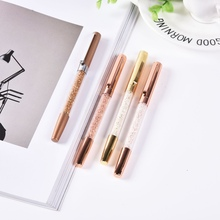 цены Crystal Signature Writing Ballpoint Pen Diamond Gold Silver Office Stationery Gift Ballpoint Pens School Supply High Quality pen