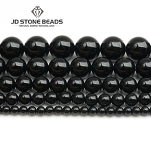AAAAA+ 4/6/8/10/12/14mm Black Agate Onyx Gemstone Round Loose Beads DIY Accessory Stone Beads  Pick Size For Jewelry Making xinyao jewelry loose 40 4 6 810 12 14 f369 onyx agate beads