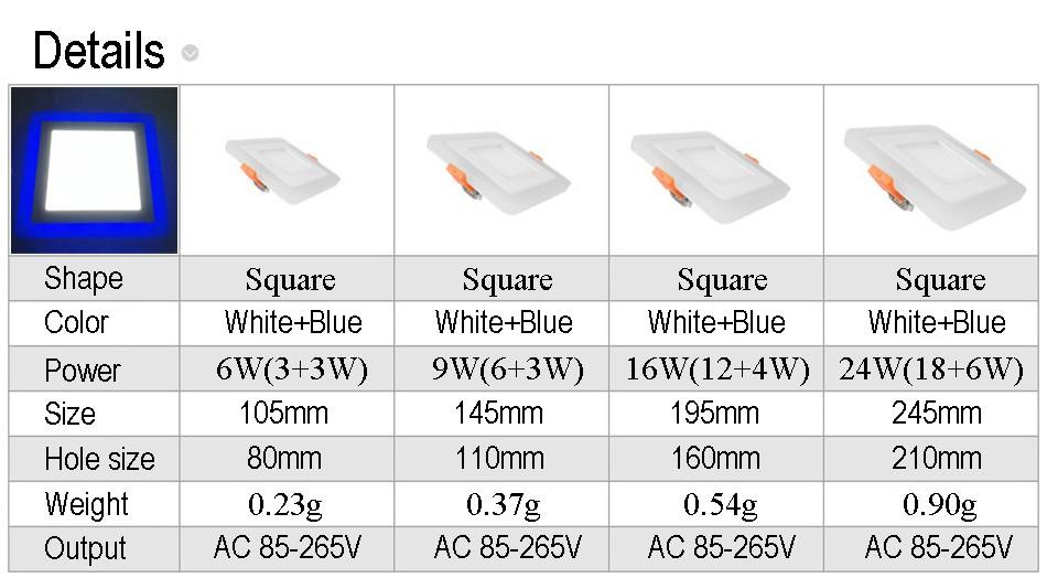 Square led panel downlight(1)