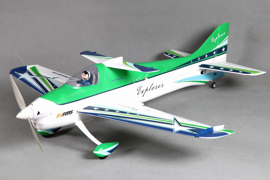 FMS 1100MM / 1.1M F3A Explorer Green PNP Durable EPO Aerobatic 3D Scale RC Model Plane aircraft 100% original FMS newest version радиоуправляемый самолет fms f3a olympus pnp 1400мм 2 4g