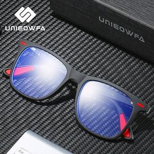 Image 3 - UNIEOWFA Retro şeffaf gözlük çerçeve erkek kadın optik miyopi gözlük çerçevesi şeffaf gözlükler TR90 reçete gözlük