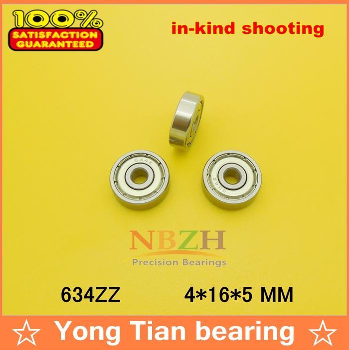 Прямая с фабрики 634 634ZZ 634-2Z 634Z R1640HH 80034 4*16*5 мм миниатюра высокого качества шариковый подшипник с глубоким жёлобом 50 шт./лот