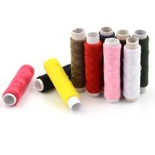 Мода 10 шт. 50 м/рулон сшить цепочки из воска нитки плоские Вощеные 150D шнур инструмент для ремесленного пошива ручная строчка для DIY кожи
