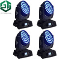 4 шт./лот  мощная светодиодная лампа для мытья  движущаяся голова  36x12 Вт  RGBW светодиоды Zoom 4в1  Четырехцветные светодиоды Zoom Wash Beam Circle Moving