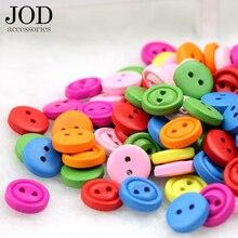 11mm 20pcs Wooden Buttons for Crafts Scrapbooking Accessories Clothes Decorative Botones De Madera Para Manualidades