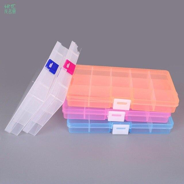 15 Cells Adjustable Jewelry Plastic Storage Box Case Craft Organizer Beads Container For Designer Jewelry Packaging & 15 Cells Adjustable Jewelry Plastic Storage Box Case Craft Organizer ...