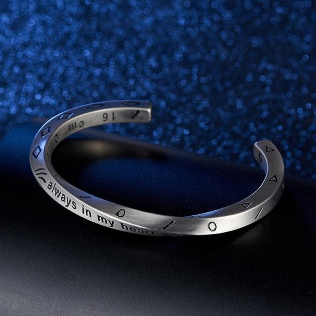 Bracelet Minimaliste acier inoxydable rétro Viking  5