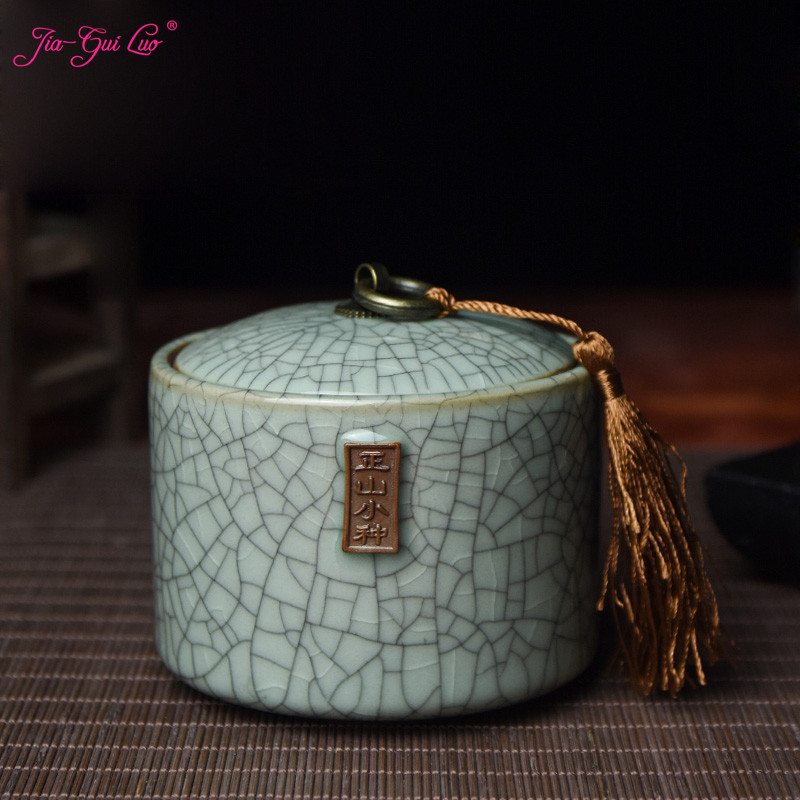 Jia-gui Luo Chinese-style Zisha Ceramic Tea Box Painting Decoration Has A Rich Chinese Style, Simple And Generous