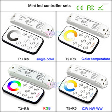 DC12V-24V Bincolor mini dimming/CCT/RGB/CW NW WW T1/T2/T3 RF wireless remote R3 Receiver controller for LED Strip Light lamp led rgb strip controller 12v rf wireless remote 3ch 3a output receiver t1 dimmer t2 t5 ct controller t3 rgb strip controller