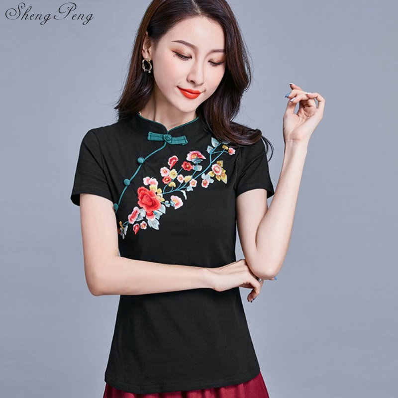 Oosterse Tops China Kostuum Cheongsam Blouse Traditionele Chinese Kleding Vrouwen Shirt Qipao G134