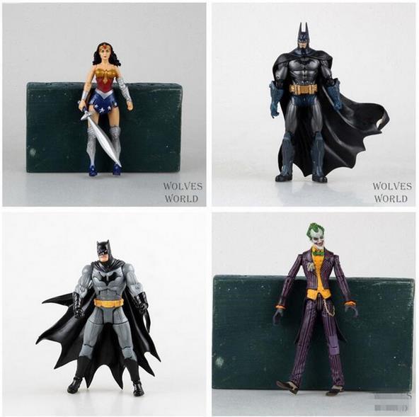 """Heróis da DC Batman Joker Mulher Maravilha Figura de Ação PVC Crianças Brinquedos Presente para As Crianças 7 """"18 cm"""