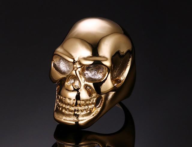 Golden Skull Ring