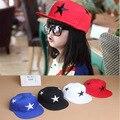Free shipping summer hat star baby boy summer cap child baseball cap embroidery kids snapback hats black white girl caps