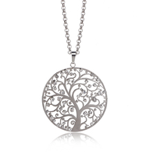 Silver Plated Tree of Life Necklace Pendant For Women Jewelry Elegant Fashion Long Chain Crystal Necklaces & Pendants XL06560