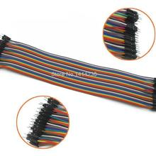 40PCS 30CM Row 2.54mm Male to Male Dupont Cable 40P Jumper Wire For Arduino