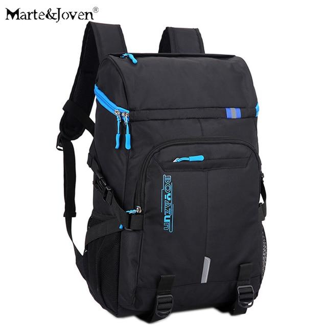 a1dc9dcd58a [Marte & Joven] Multi Pocket Zwarte Rugzak voor Mannen Beste Tieners  Schooltas Laptop Rugzakken