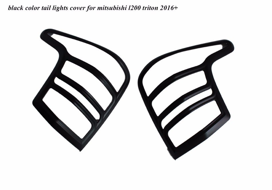 2016 2019 Chrome Tail Lights Cover For Mitsubishi L200 Triton Rear