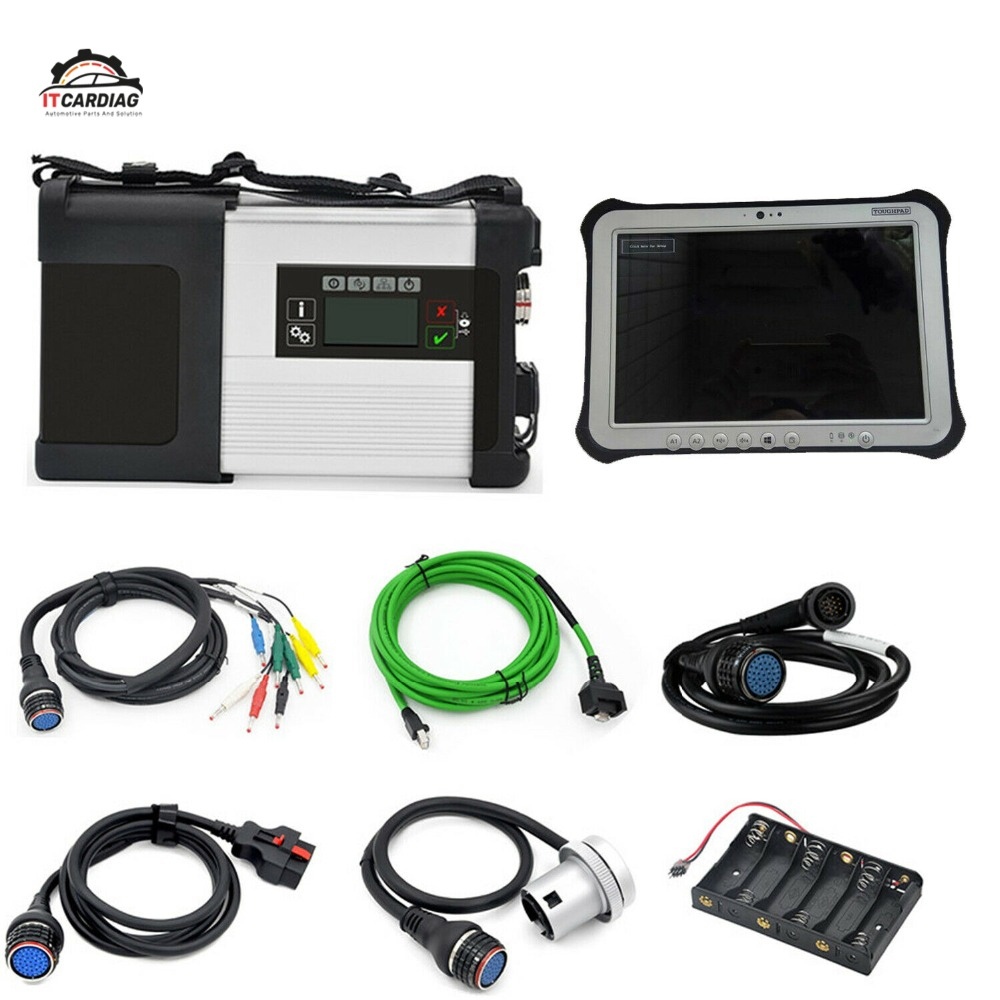 MB Star SD C5 Full Chip Pbc 2019.03 XENTRY Diagnostic WIFI for Benz Multi Langauge With Panasonic FZ G1 Toughpad Military Tablet