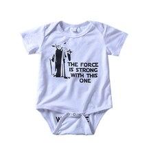 Ropa de bebé infantil Welcome Dark Side Caricatura de impresión mameluco blanco Bebe niños niñas ropa