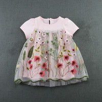 Baby Dress Infant Girl Dresses Flowers Embroidery Baby Girls Clothes Princess Birthday Dress For Baby Girl
