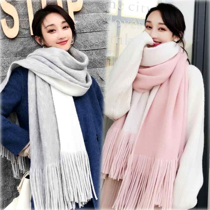 Women/'s Winter Outdoor Warm Long Scarf Cape Scarves Wrap Stole Tassel Shawl New