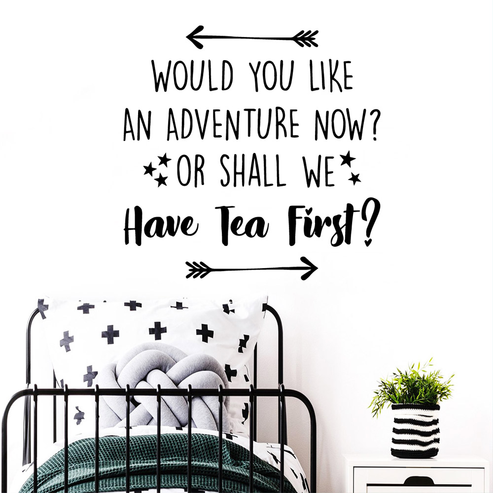 Beauty have tea adventure Pvc Wall Decals Home Decor For Babys Rooms Art Decal