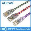 AUCAS 0.5 m 1 m 2 m 5 m 10 m 15 m 10 Gigabit Ethernet CAT7 Blindado cabo RJ45 Cabo Lan Cat7 SFTP Patch Cord Cabo de Rede Plana