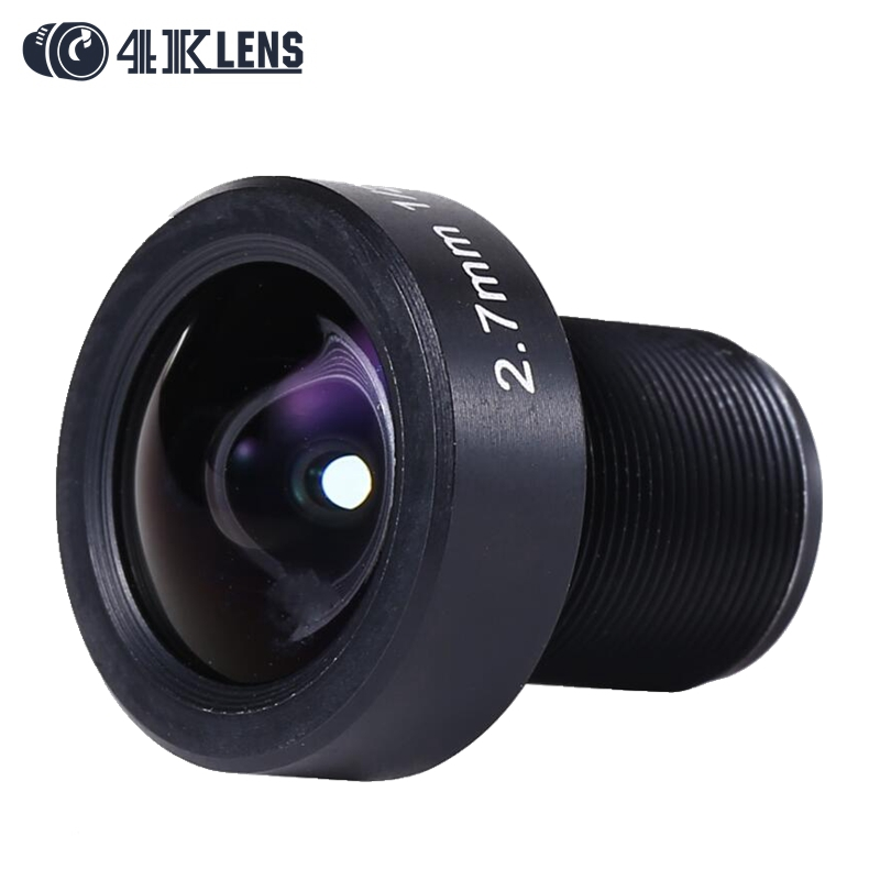 4K LENS Newly 2.7MM Gopro Lens IR 1/2.3 12MP M12 Mount Flat Camera Lens Super Wide for Sports Cam and Drone Modified 2016 Coming значок победы воин