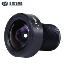 4K LENS Newly 2.7MM Gopro Lens IR 1/2.3 12MP M12 Mount Flat Camera Lens Super Wide for Sports Cam and Drone Modified 2016 Coming