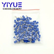 E7508 100PCS/Pack Tube insulating Insulated terminals 0.75MM2 Cable Wire Connector Insulating Crimp Terminal E