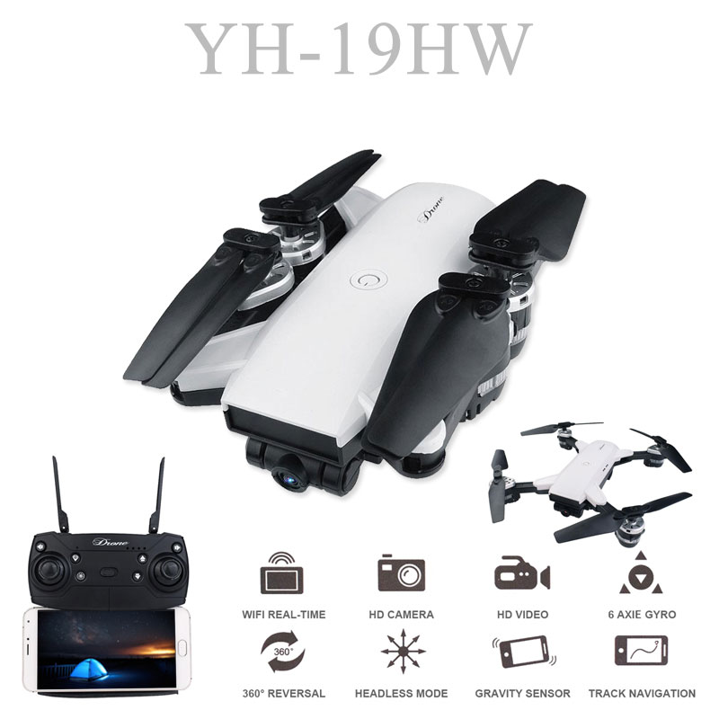 19HW RC Selfie Drone Con 0.3mp/2mp HD WIFI FPV Macchina Fotografica 6-Axis RC Elicottero in Tempo Reale Quadcopter vs Visuo XS809HW Ea E58 chine