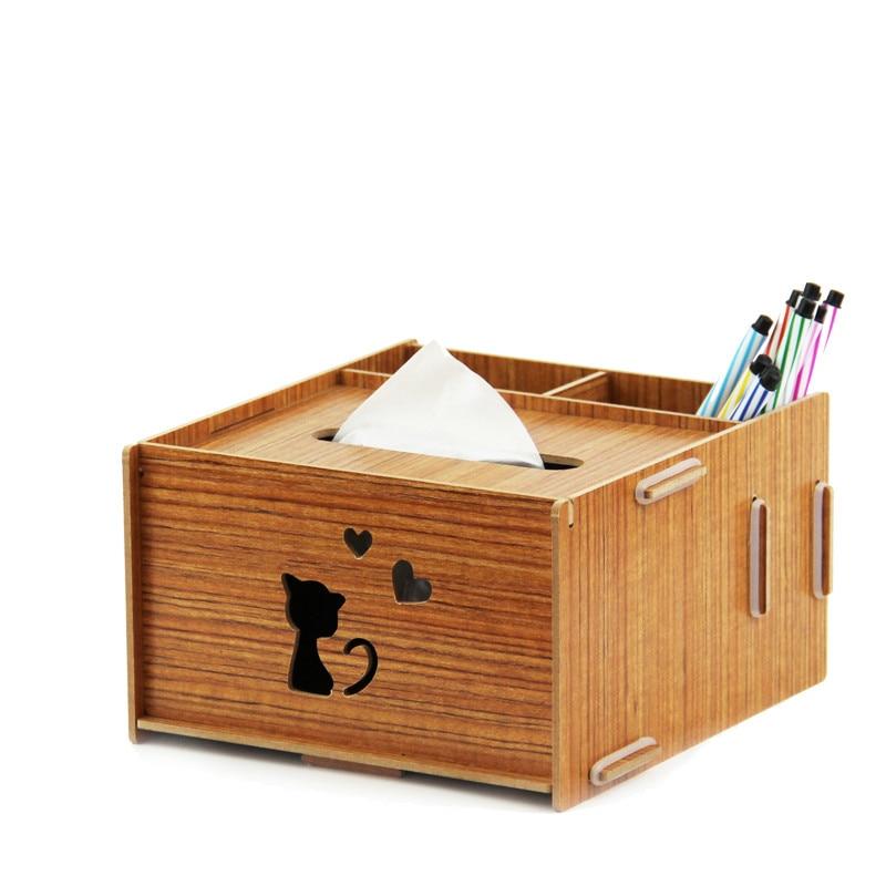 Bureau bureau créatif environnement bois multifonctionnel pompage papier boîte porte-stylo