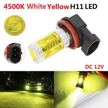 цена на 1pc H11 LED Car Fog Lamp Bulb 30W High Power 4500K White Yellow Car Auto Driving Fog Light DC 12V Universal