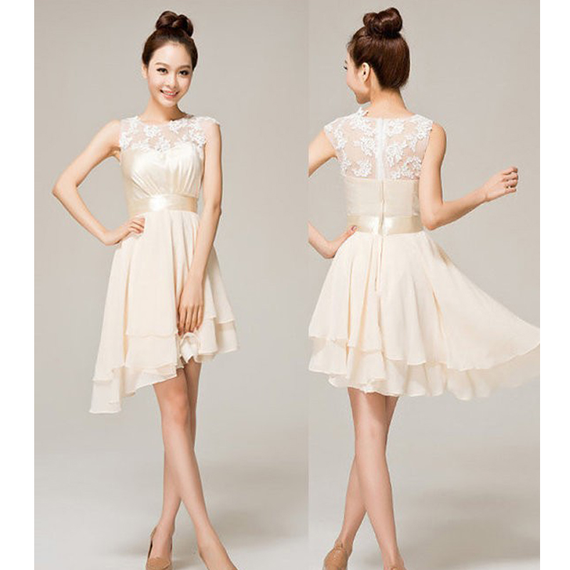 Popular Short Cream Bridesmaid Dresses-Buy Cheap Short Cream ...