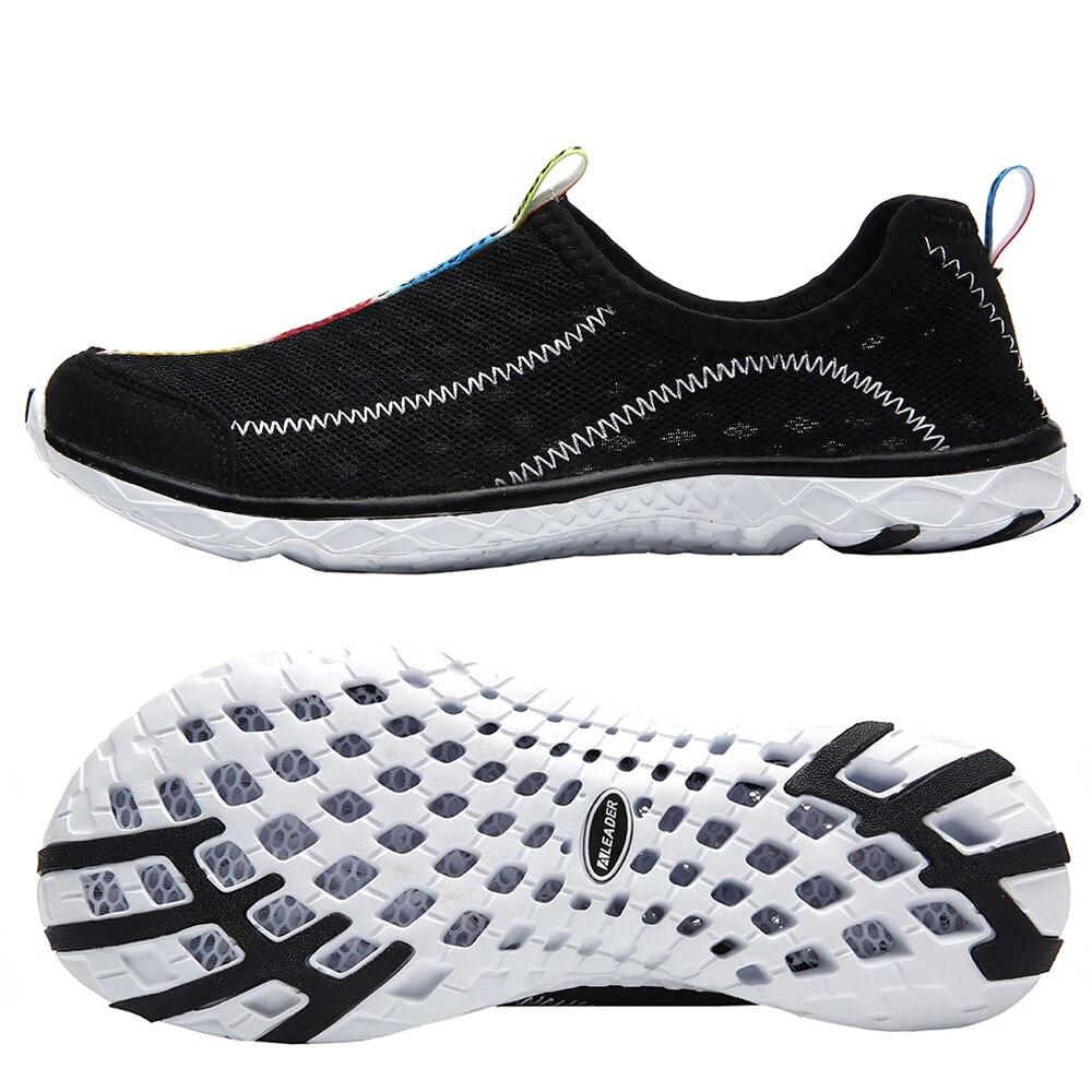 black mesh aleader water shoes