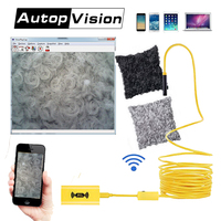 110B WIFI Endoscope Camera Mini Waterproof yellow Cable Inspection Camera 8mm USB Endoscope Borescope IOS Endoscope For Iphone