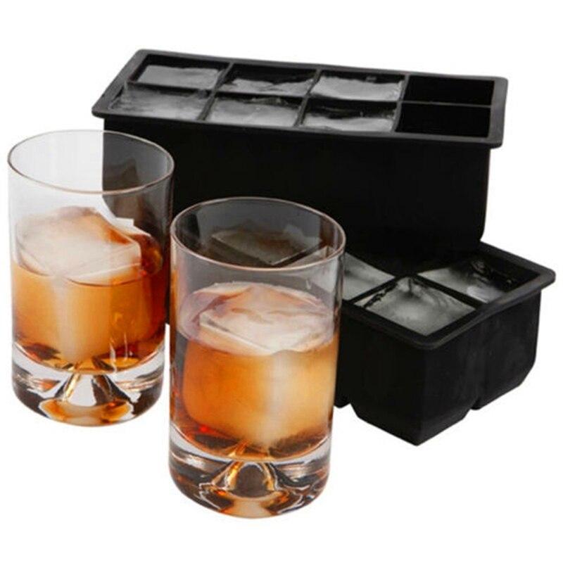 8 große Cube Jumbo Große Silikon Ice Cube Platz Tray-Form-form Ice Cube Maker Küche Zubehör
