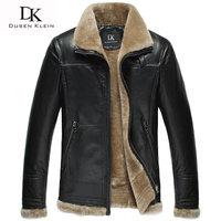 Брендовая зимняя кожаная куртка мужская Роскошная шерстяная insdie из натуральной овчины пальто черный/коричневый Дизайнерская куртка 13Q1358