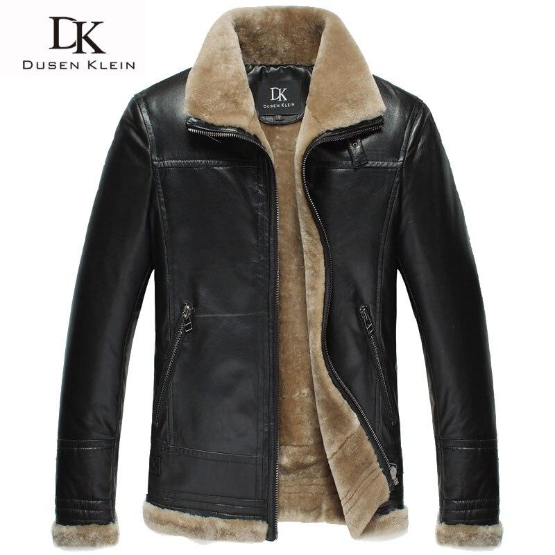 Discount !! Brand winter leather jacket men Luxury wool ...
