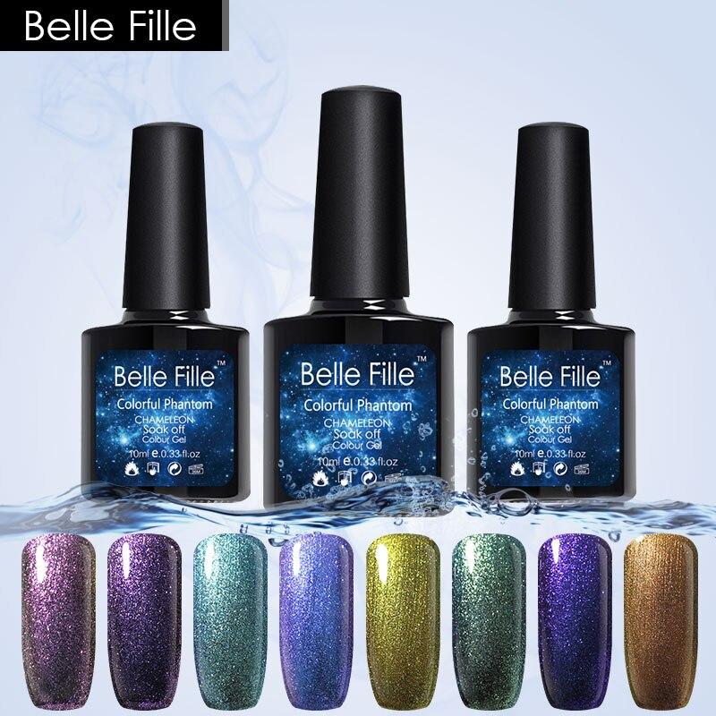 Belle Fille Uvled Gel Nail Chameleon Magnetic Nail Gel Polish