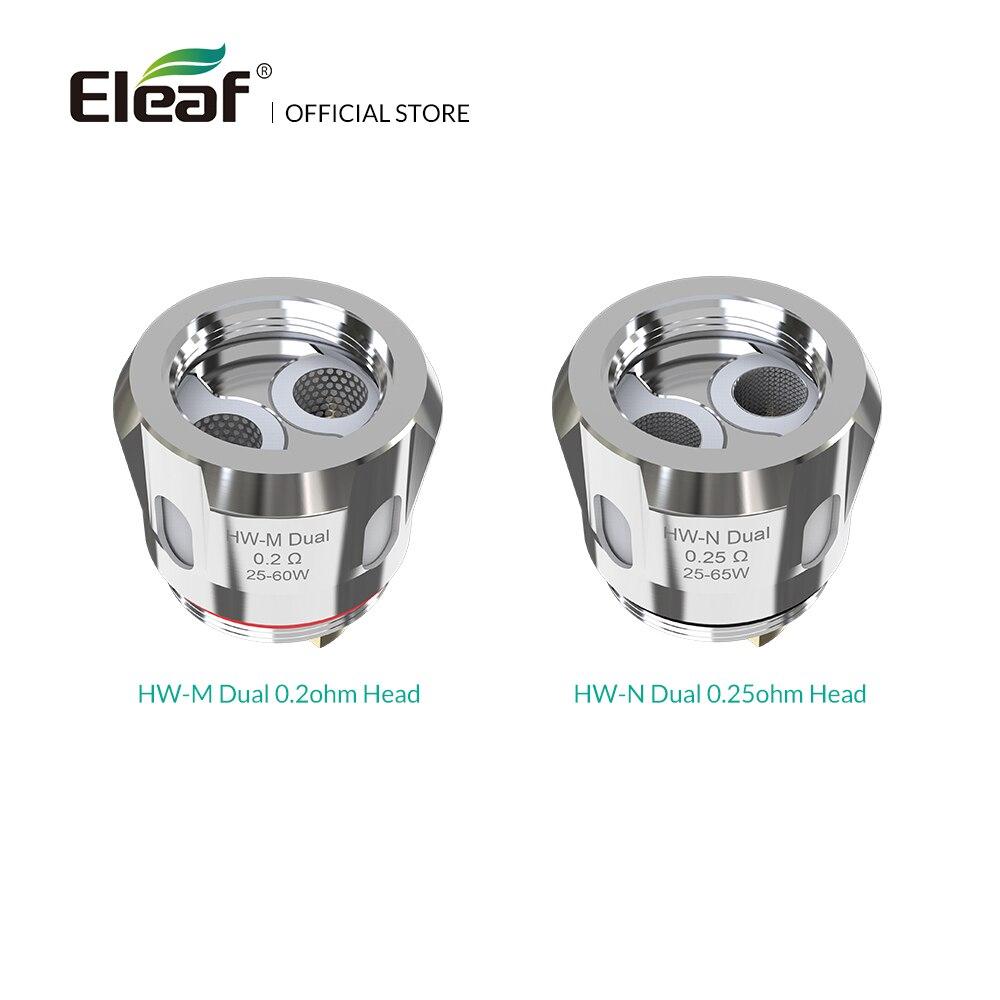 5 pcs/lot D'origine Eleaf HW-M Double 0.2ohm/HW-N Double 0.25ohm Tête pour iStick NOWOS avec ELLO Duro kit Électronique cigarette bobine