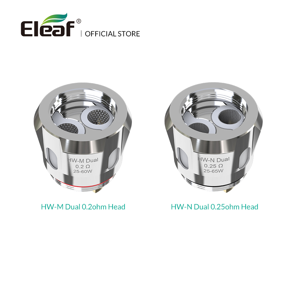 5 teile/los Original Eleaf HW-M Dual 0.2ohm/HW-N Dual 0.25ohm Kopf für iStick NOWOS mit ELLO Duro kit Elektronische zigarette spule