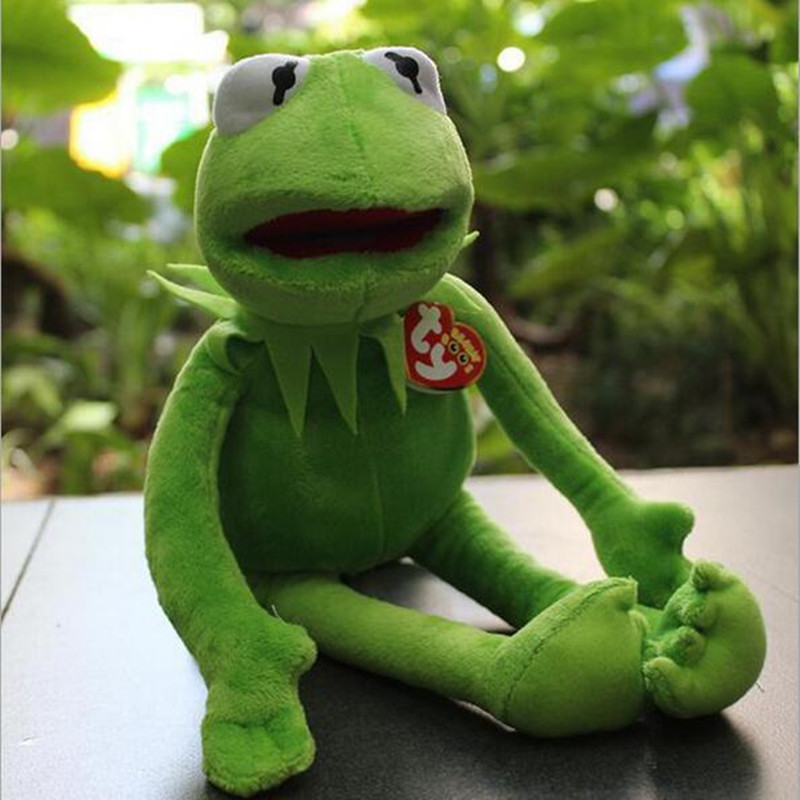 Kermit the Frog Soft Plush Toys Stuffed Animal Plush Doll for Gift northern europe style double 3d printing ins doll plush sofa stuffed animal child toys birthday xams gift dash pillow cushion