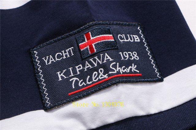Men Clothes 2020 Famous Brand Tace & Shark polo shirt men Summer Tops Cotton Short Sleeve Striped Classic & Business homme 6