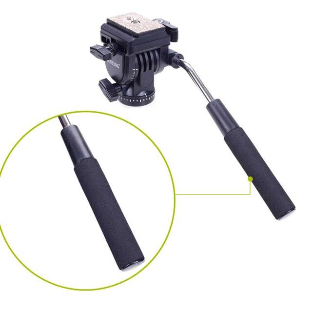 YUNTENG VCT-288 Mini Camera Tripod Unipod Holder + Monopod + Fluid Pan Head for Canon Nikon DSLR Cameras Photography Tripod Kit