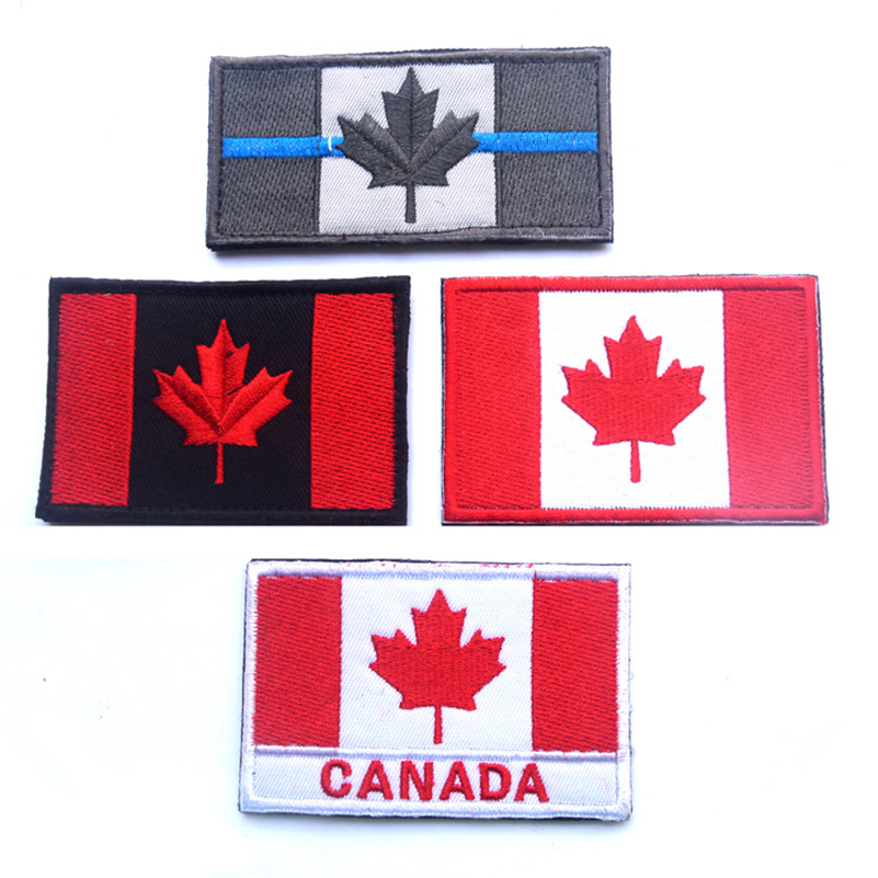 Canada flag patch canadian embroidered tactical hook
